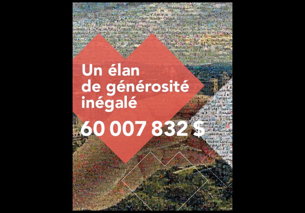 Un élan de générosité inégalé pour la campagne Centraide du Grand Montréal 2021